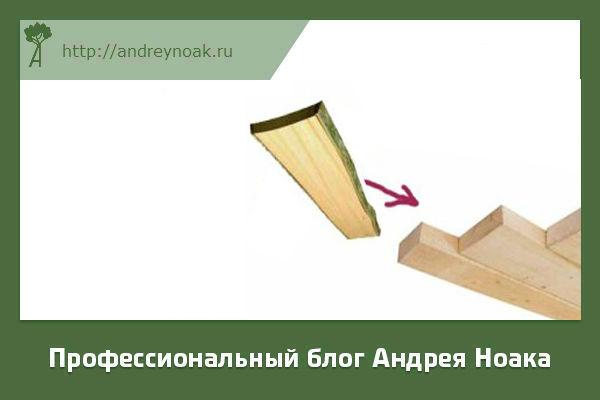 Получение обрезного пиломатериала из необрезного