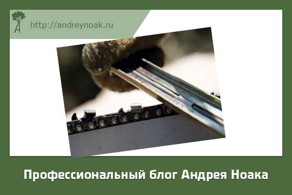 Заточка цепей бензопил
