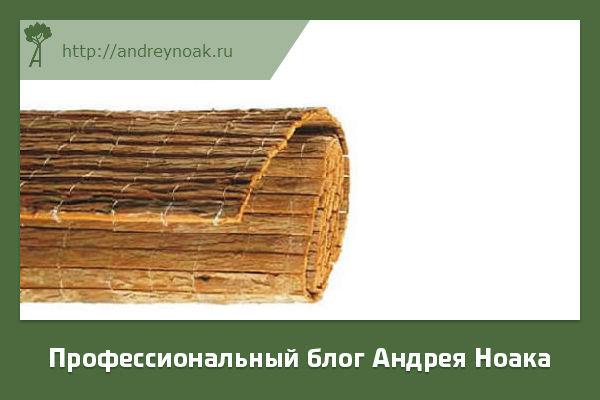 Забор из древесной коры