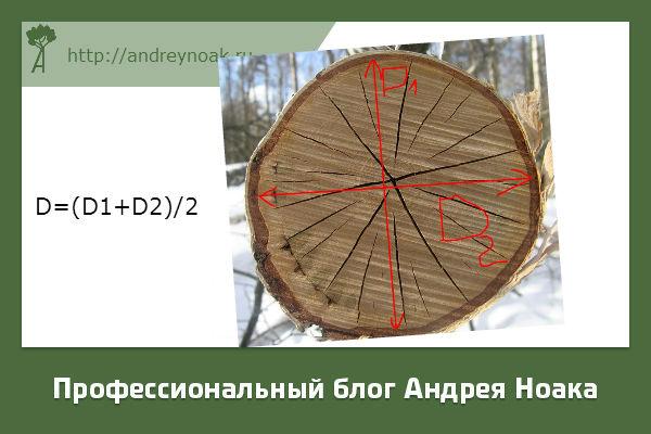 Как посчитать куб леса